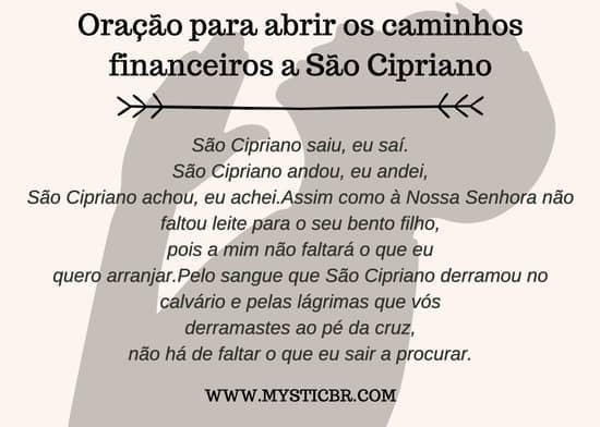 Oração para abrir caminhos financeiros de São Cipriano