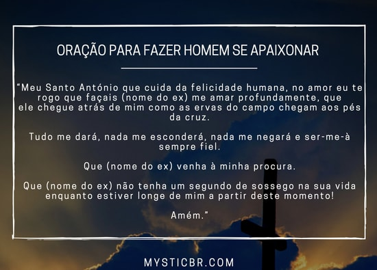 Oração para fazer homem se apaixonar