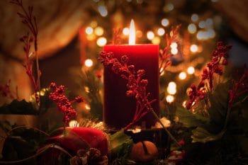 Oferenda da oração - vela vermelha