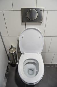 fezes humanas no vaso sanitário