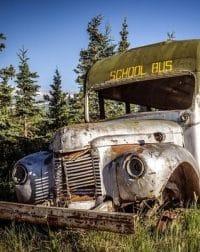 ônibus após um acidente