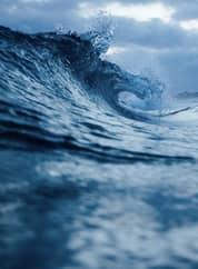 mar vindo na sua direção