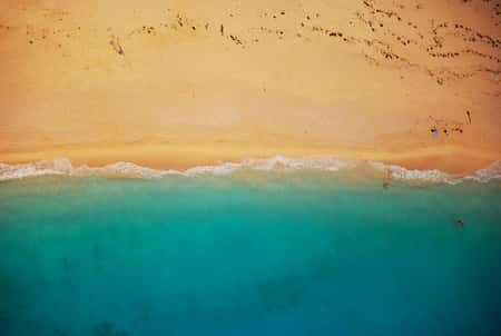 água do mar calmo